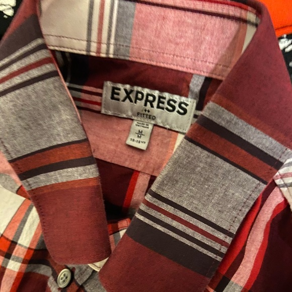 Express Other - Men's red and black two pocket flannel